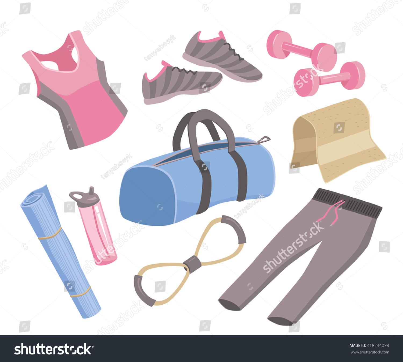 yoga stuff illustration icon set sport stock illustration 418244038