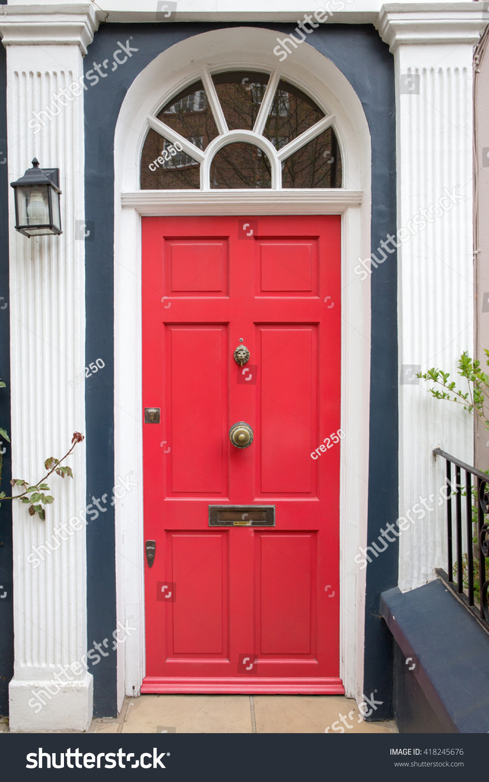 Red Front Door Beautiful Old English Stock Photo Edit Now