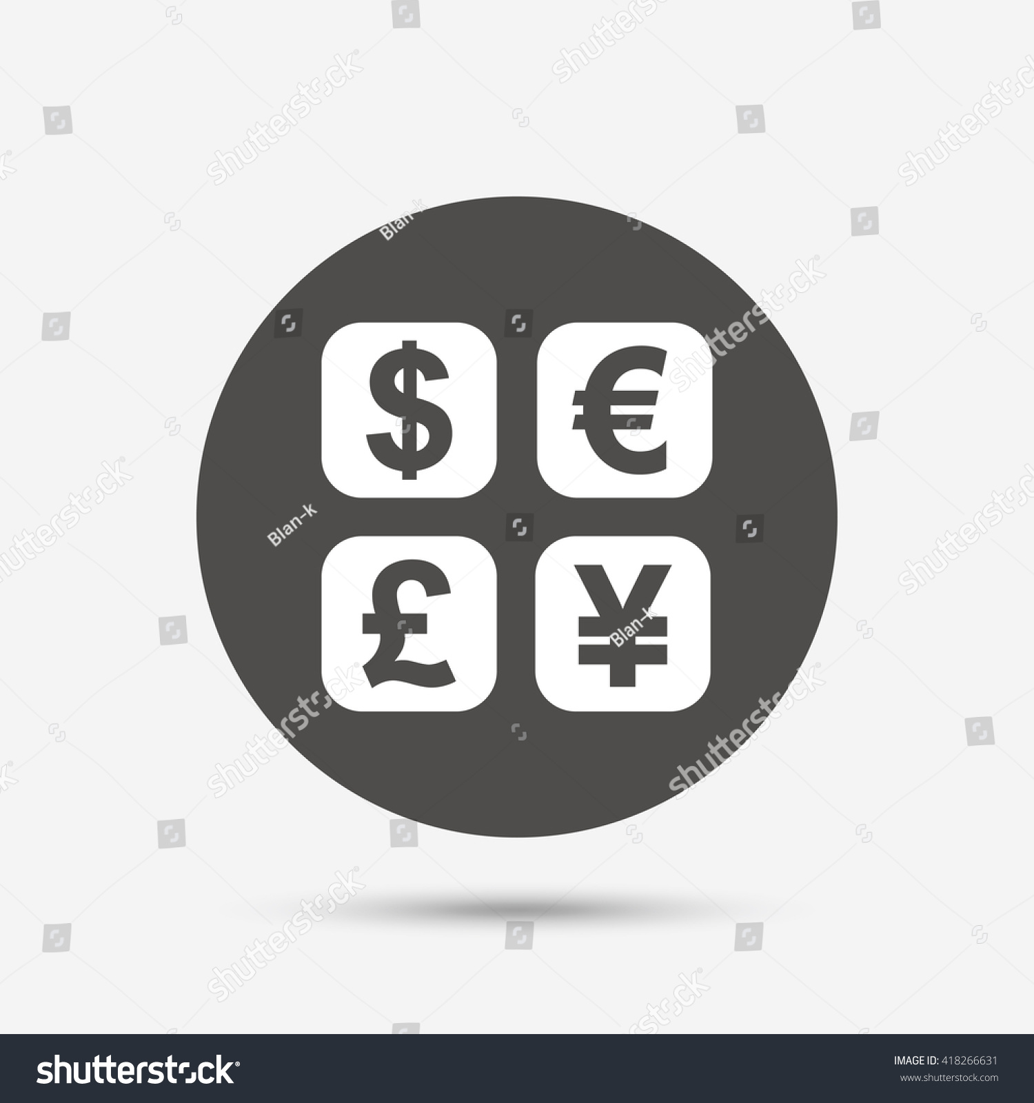 Currency exchange sign icon currency converter stock vector currency exchange sign icon currency converter symbol money label gray circle button with biocorpaavc Gallery
