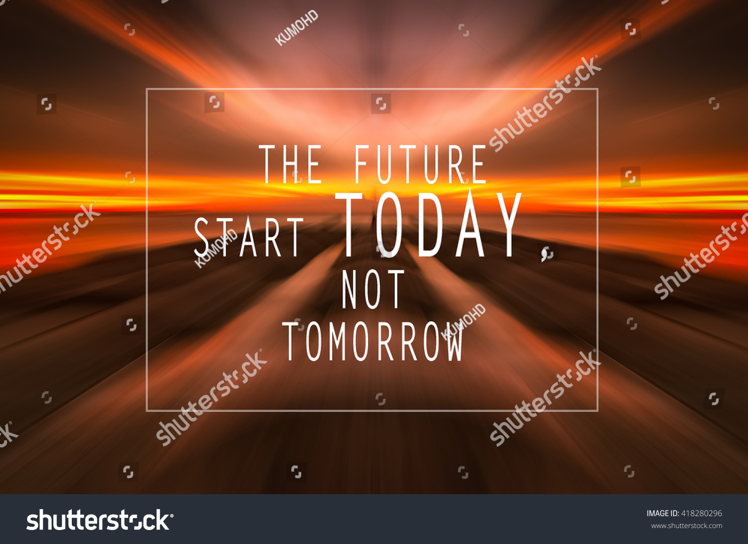 Inspirational Motivation Quote On Sunset Abstract Stock Illustration  418280296   Shutterstock