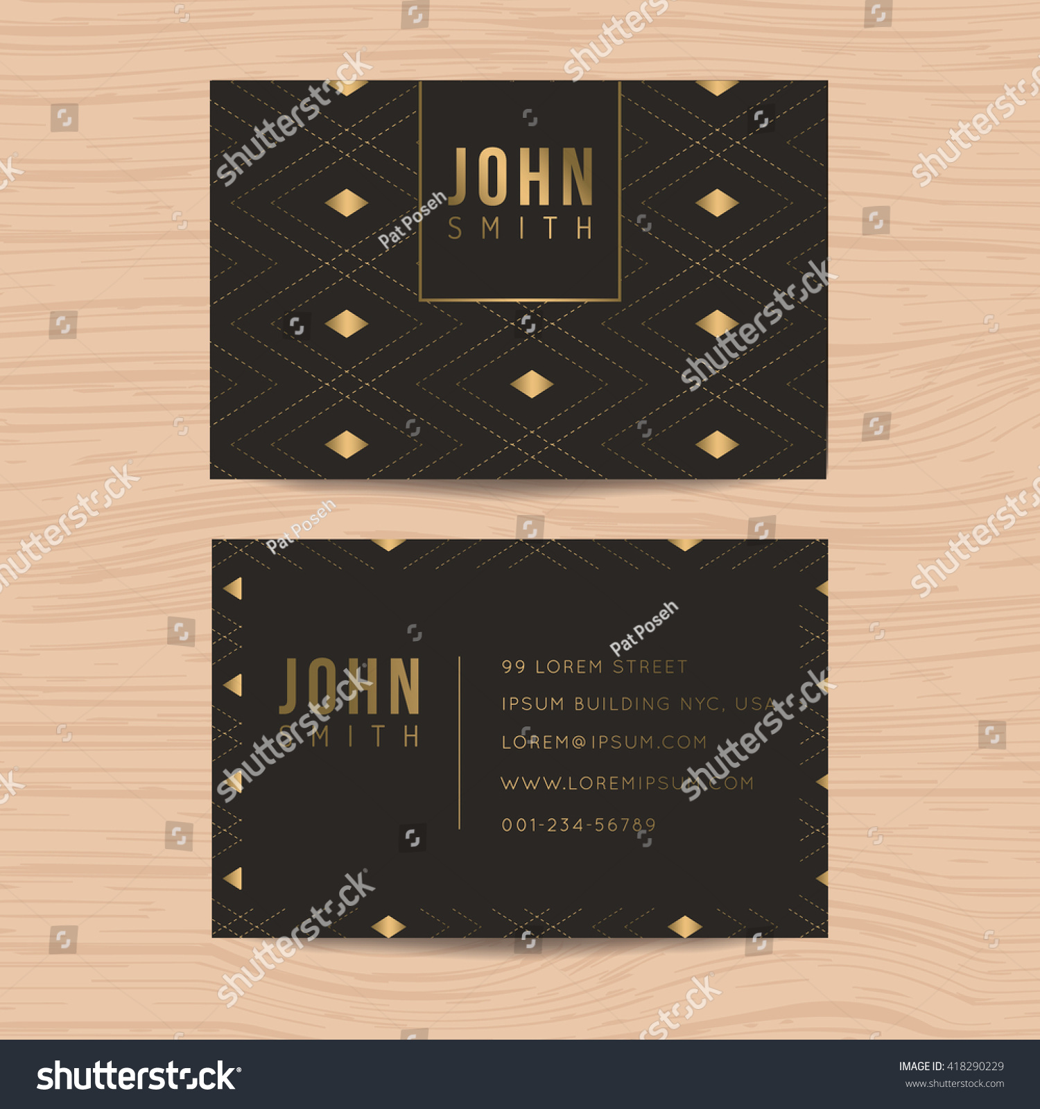 Modern Clean Design Business Card Template Stock Vector 418290229 ...