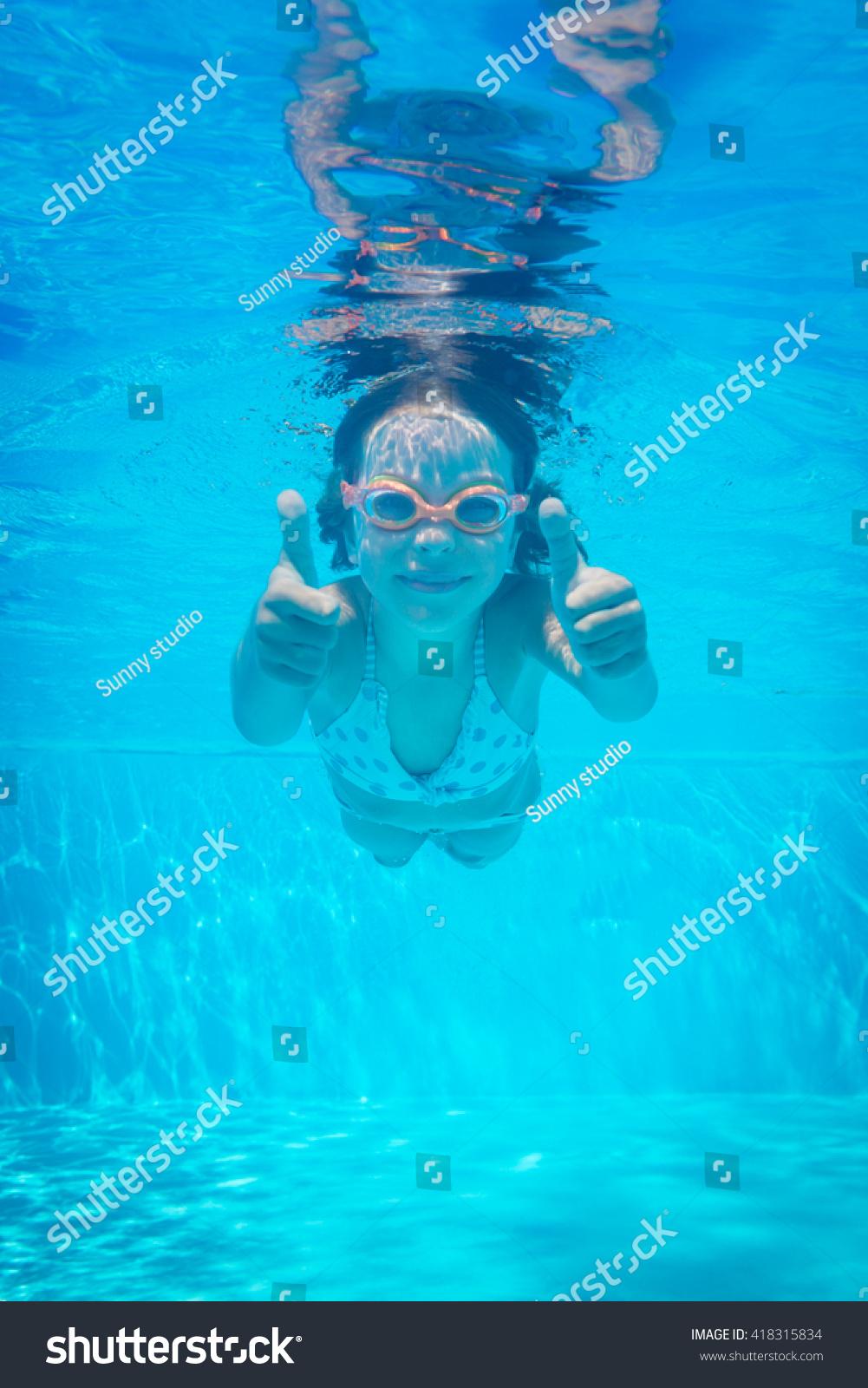 Kid Having Fun Swimming Pool Underwater Stock Photo 418315834 Shutterstock