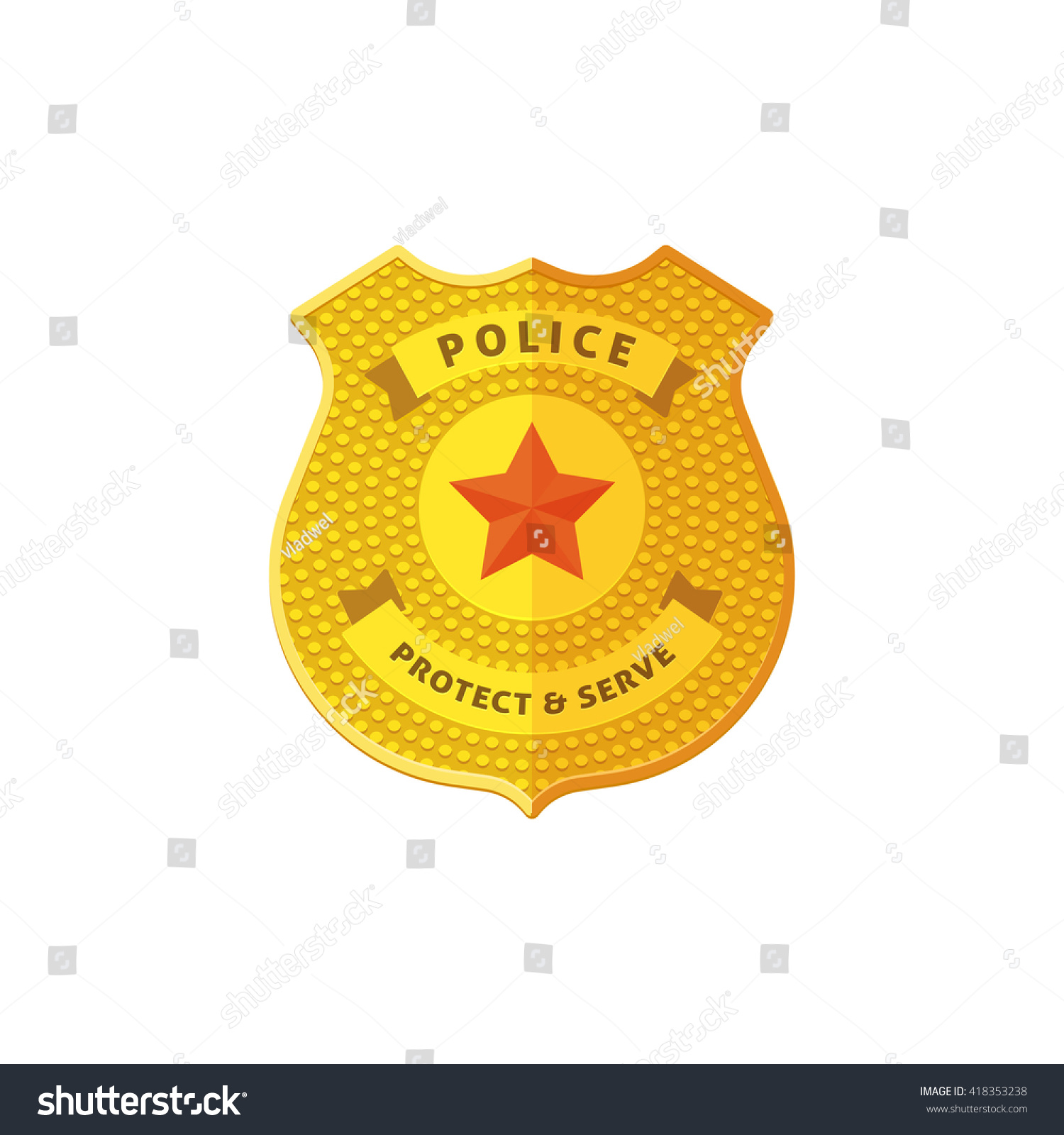 police badge vector illustration isolated on stock vector