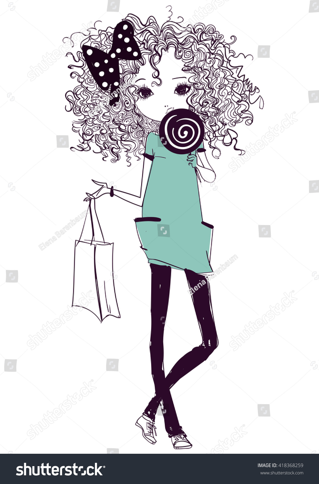 girl hipster diagram
