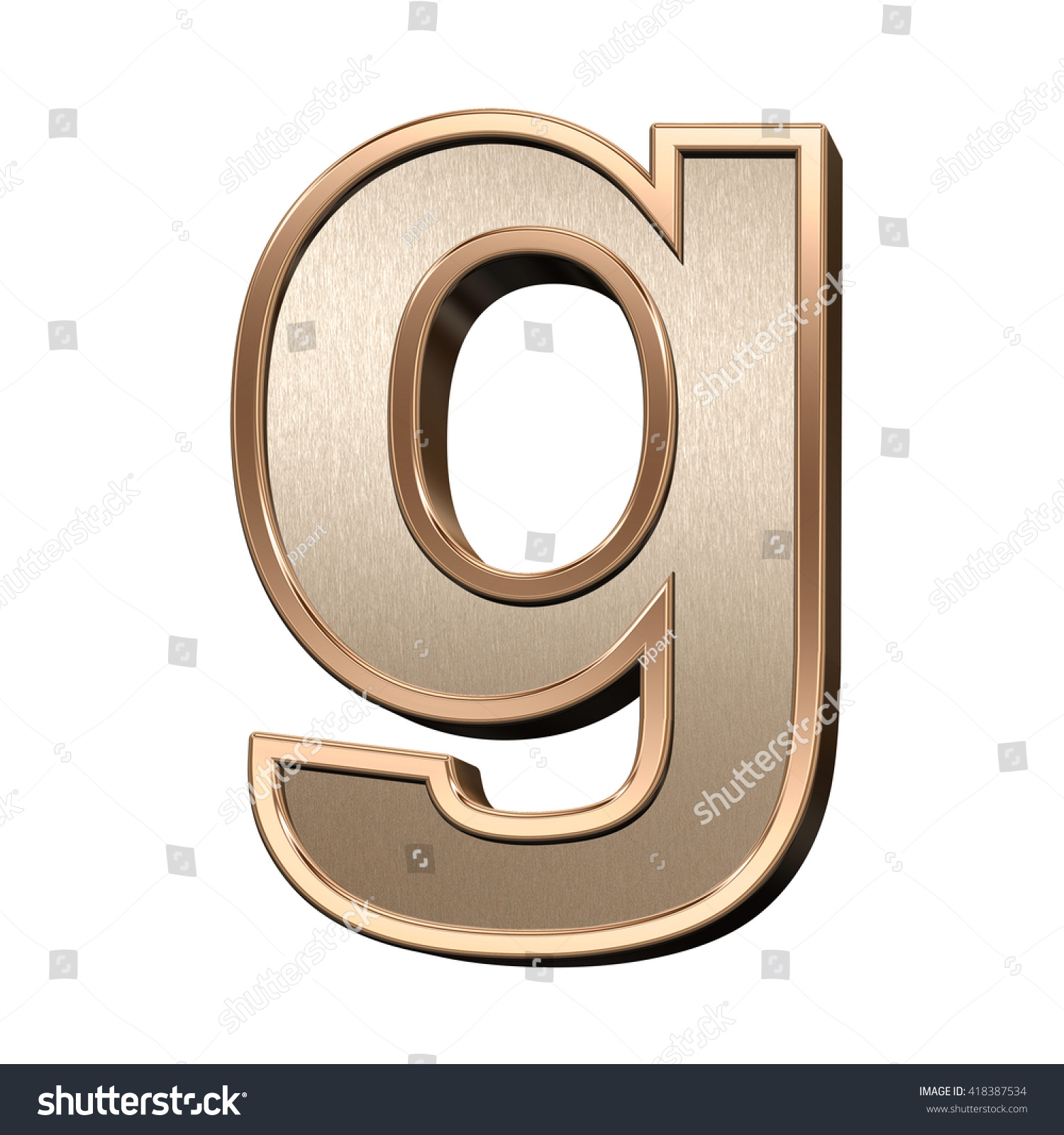 One lower case letter brushed copper stock illustration 418387534 one lower case letter from brushed copper with shiny frame alphabet set isolated on white buycottarizona Image collections
