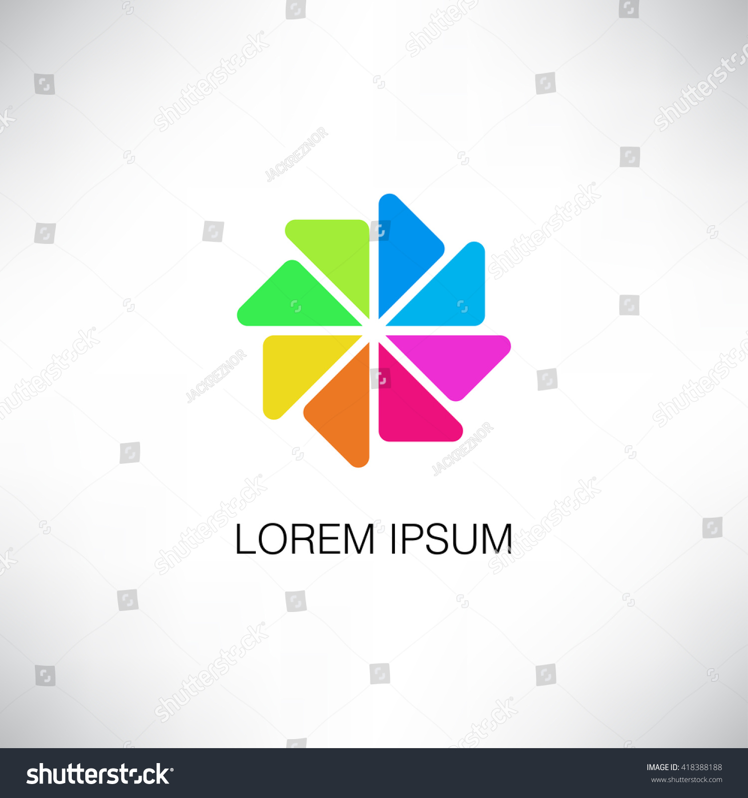 Pinwheel Shape Logo Design Travel Logo Vector de stock418388188 ...