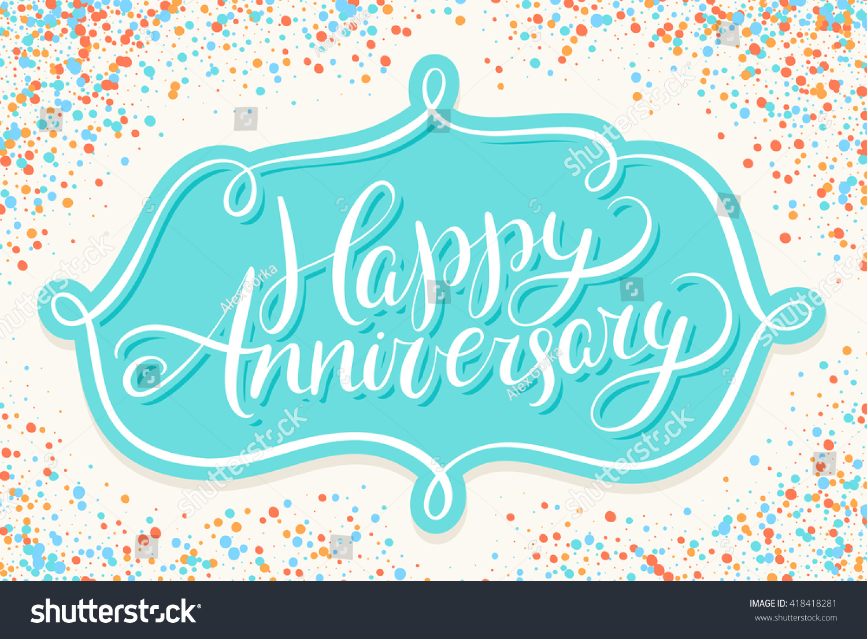 Happy anniversary stock photo photo vector illustration