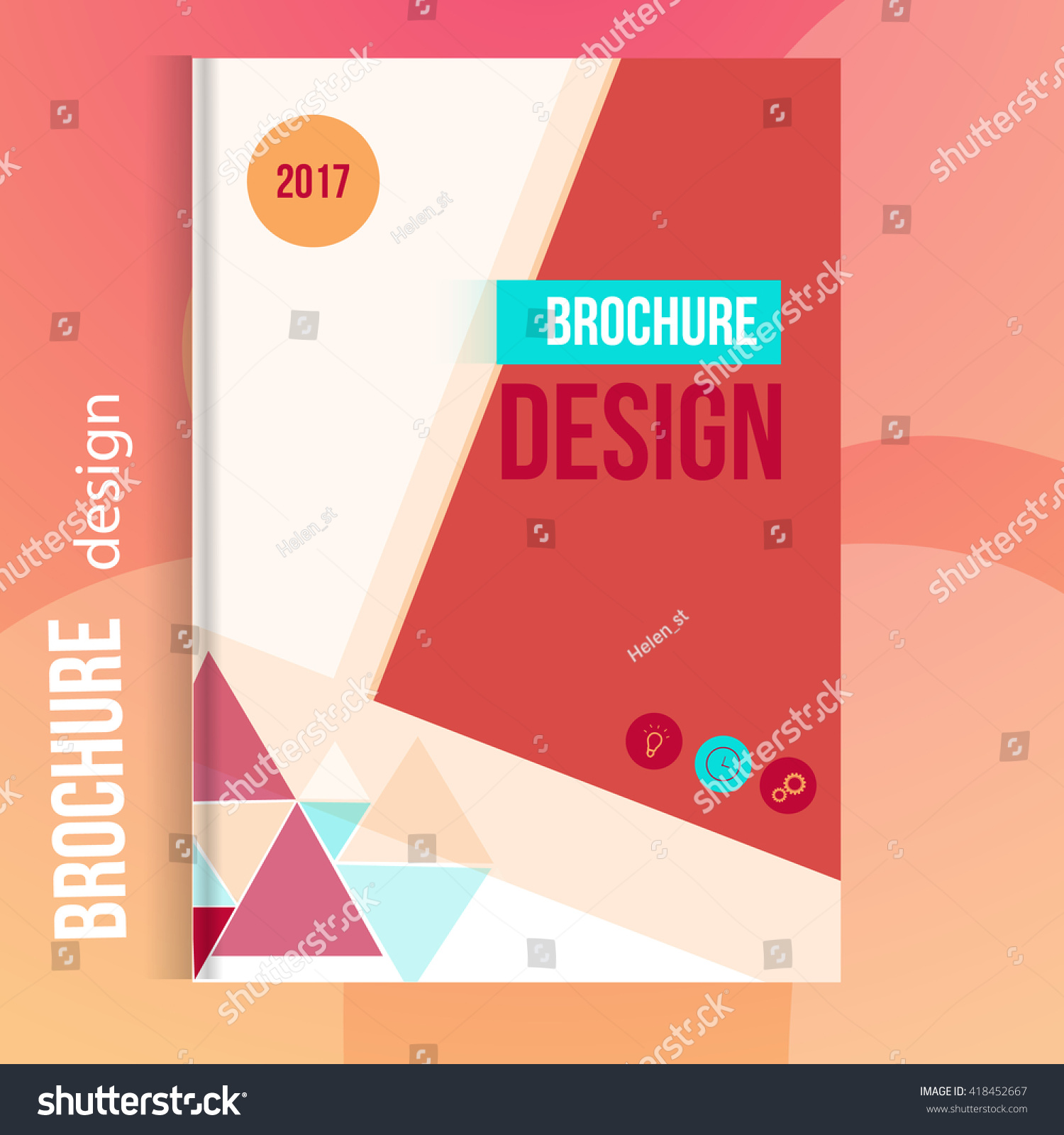 Modern Book Cover Vector : Modern vector annual report design template stock