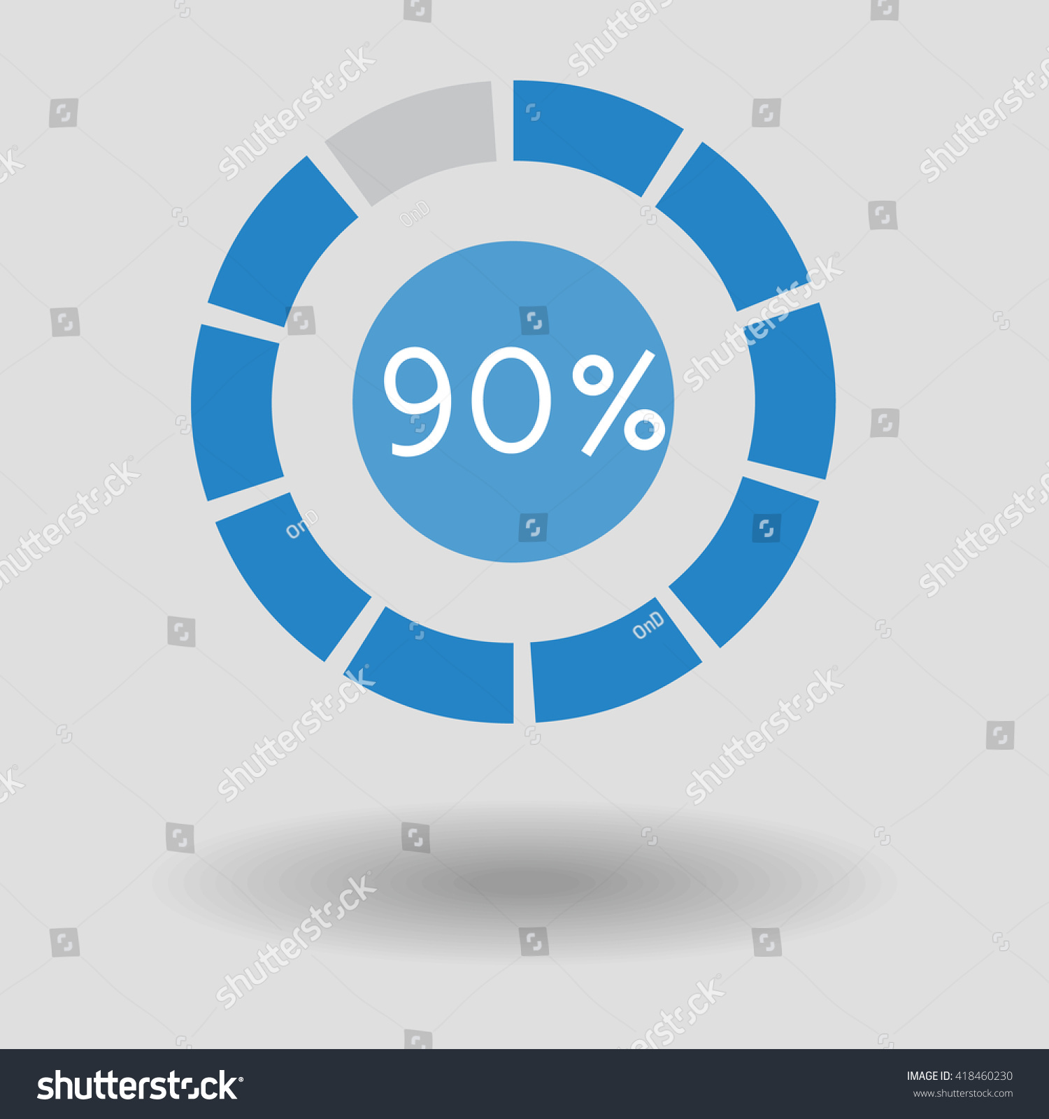 Icon Business Colorful Pie Chart Circle Stock Vector Royalty Free