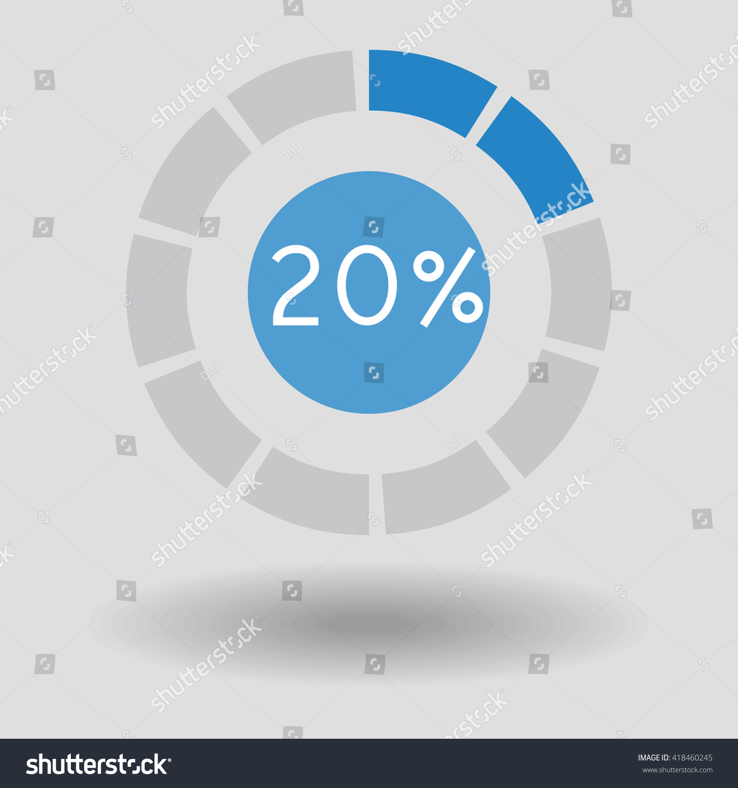 Icon business colorful pie chart circle stock vector 418460245 icon business colorful pie chart circle graph 20 blue vector illustration nvjuhfo Image collections