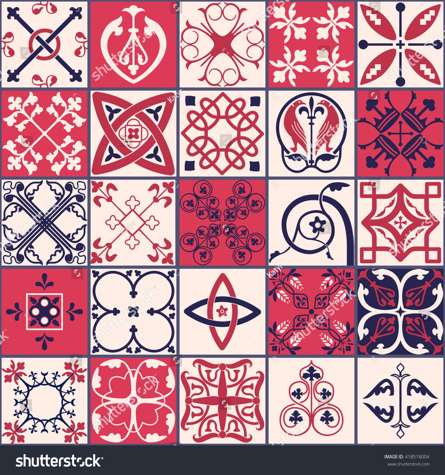 Vector of moroccan tile seamless pattern tile for design tile - Vector Of Moroccan Tile Seamless Pattern For Design Background Banner Spanish Tile Element