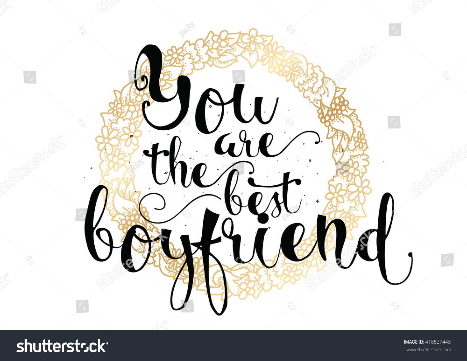 You are the best boyfriend inscription greeting card with