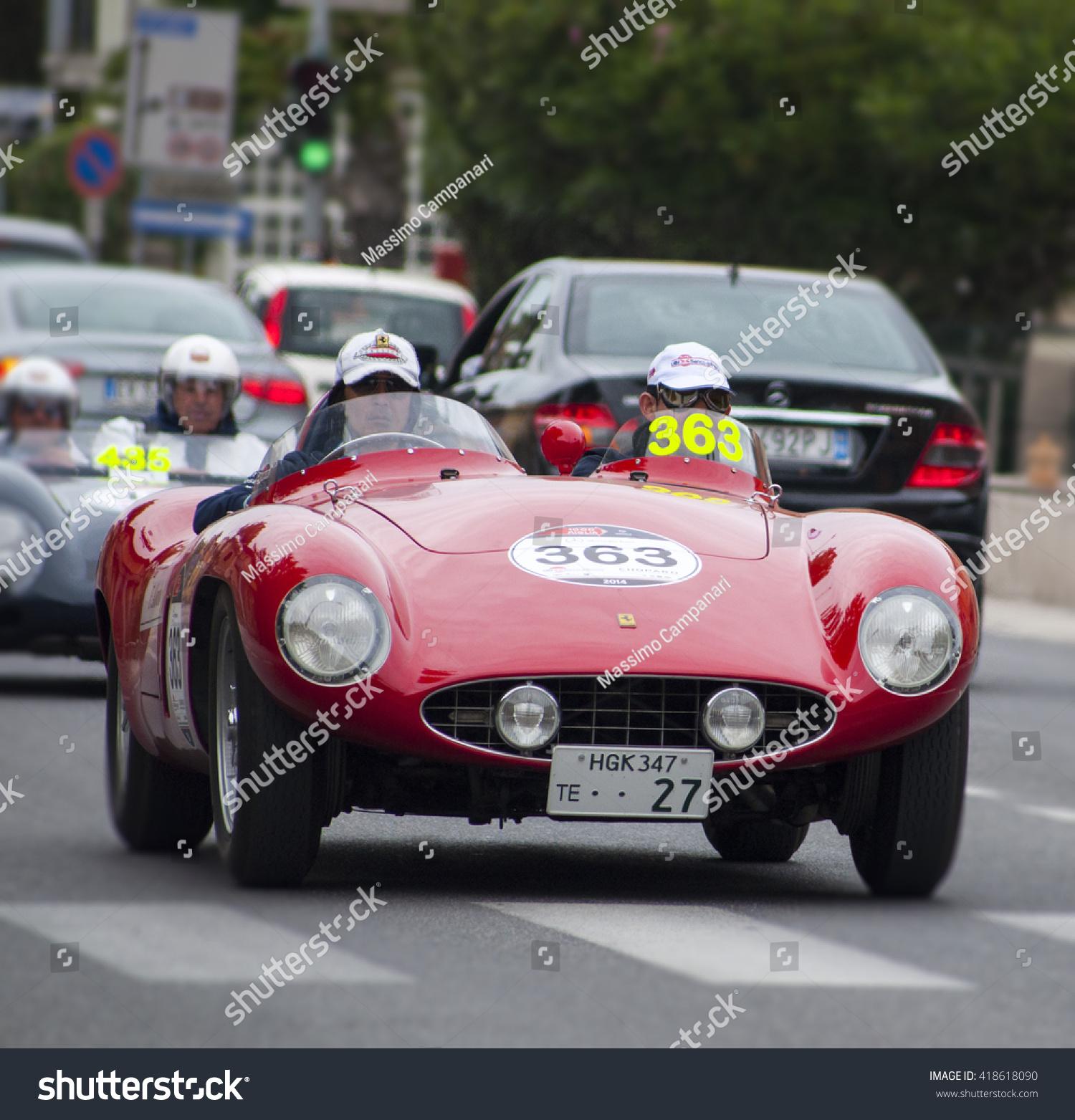 Fano Italy May 16 Ferrari 750 Stock Photo Edit Now 418618090