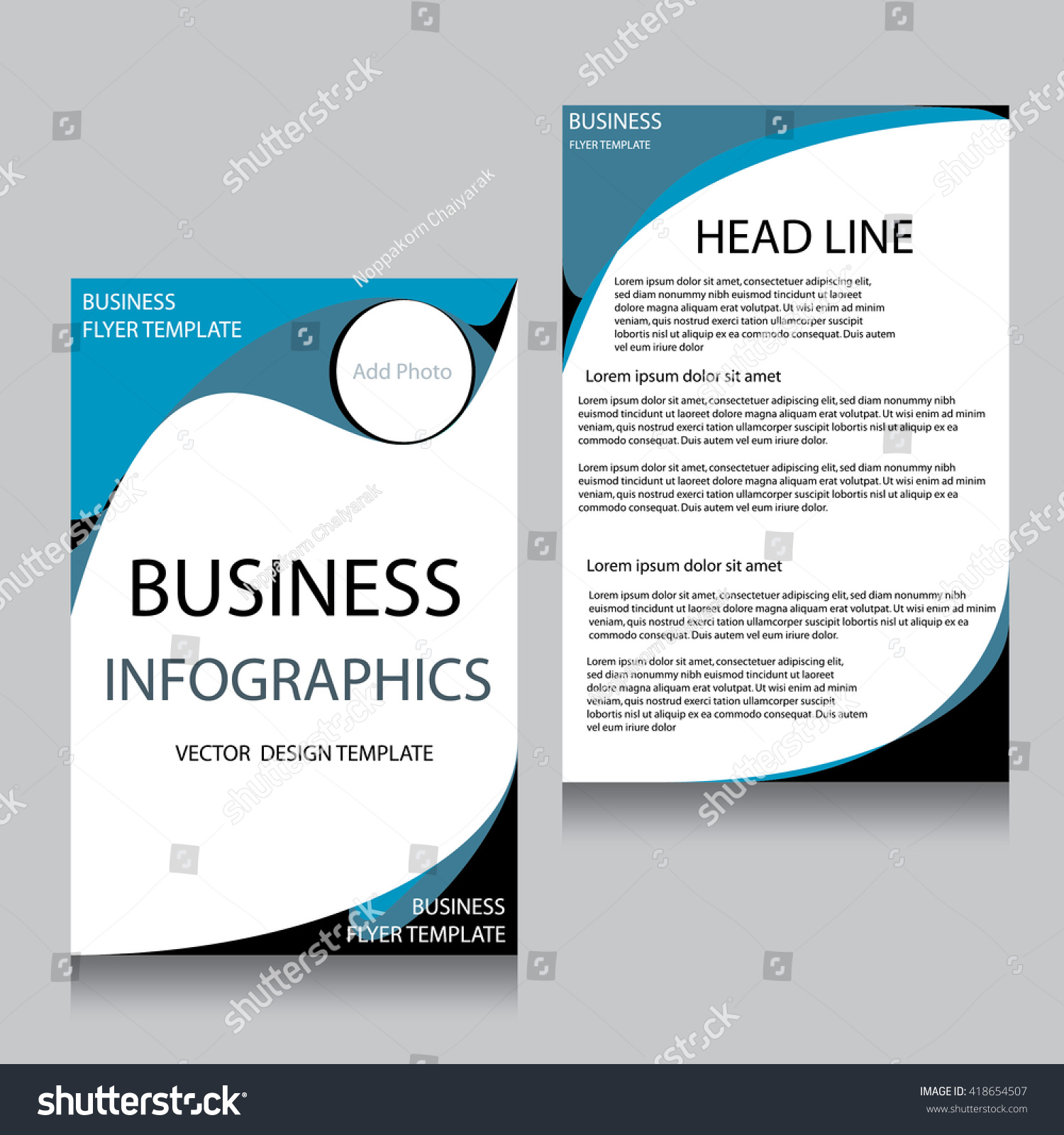 Vector Brochure Flyer Design Layout Template Stock Vector Royalty - Logo layout templates