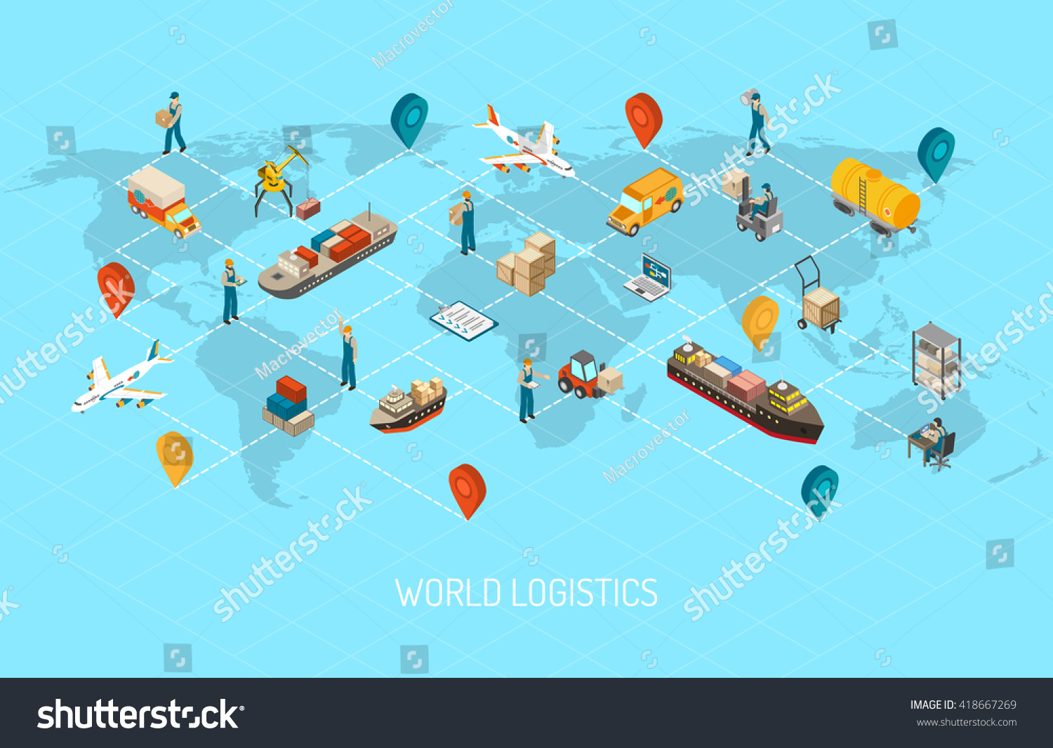 International Logistic Company Worldwide Operations Cargo Stock ...