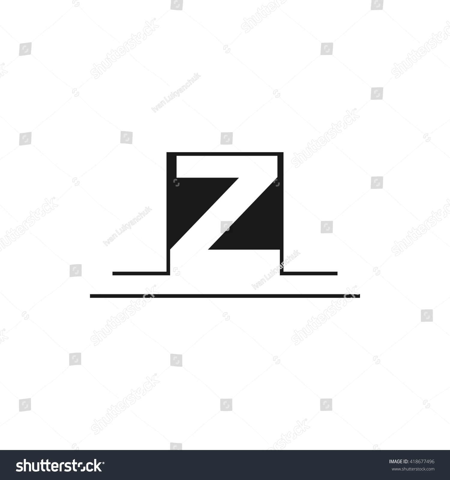 Outline letter z logo design your stock vector royalty free outline letter z for logo design your company vector illustrations spiritdancerdesigns Image collections