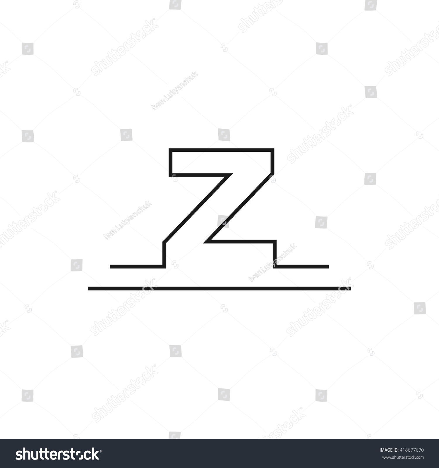 Outline letter z logo design your stock vector 2018 418677670 outline letter z for logo design your company vector illustrations spiritdancerdesigns Image collections