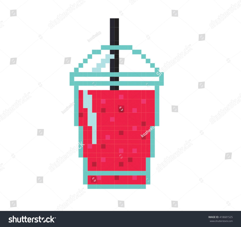 Illustration De Stock De Illustration Lissée Pixel Art 418681525
