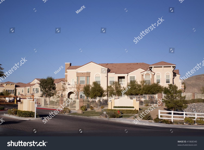 Southwest architecture style suburban neighborhood homes for Southwest architecture