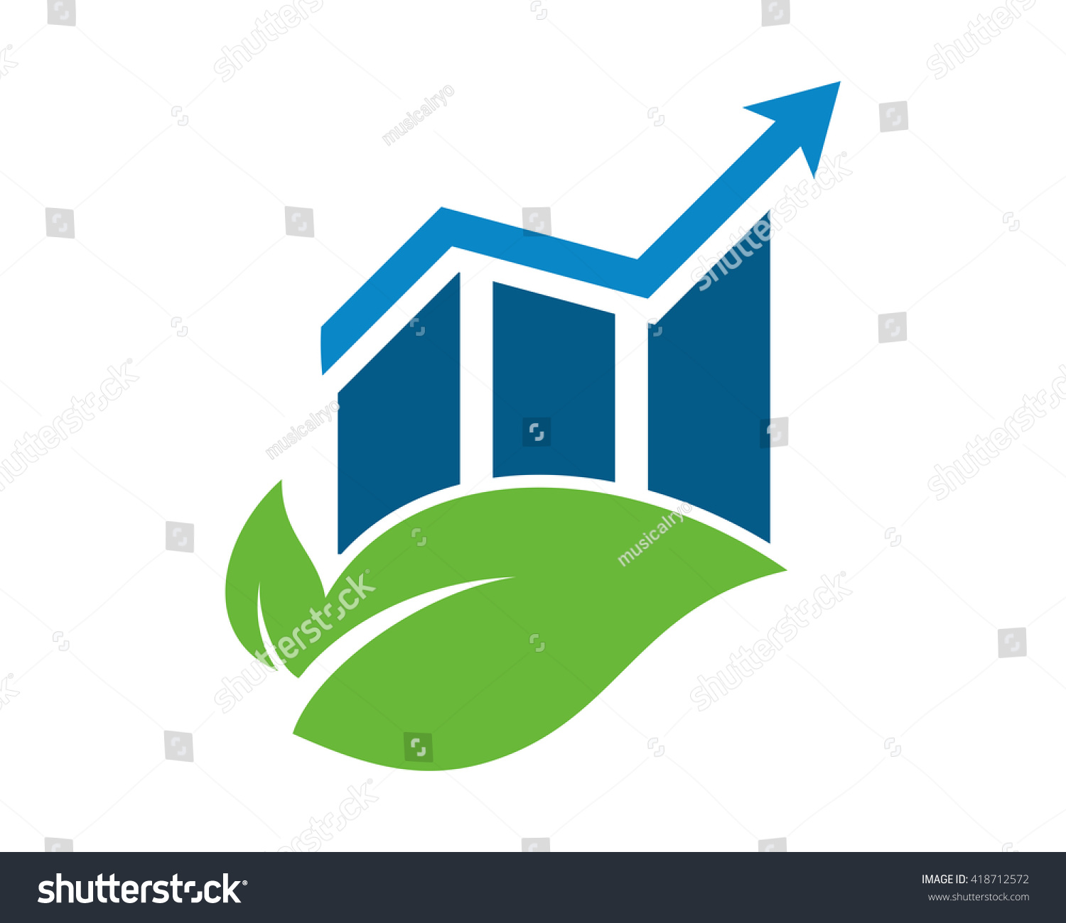 Leaf diagram graph image vector icon stock vector 418712572 leaf diagram graph image vector icon pooptronica Choice Image