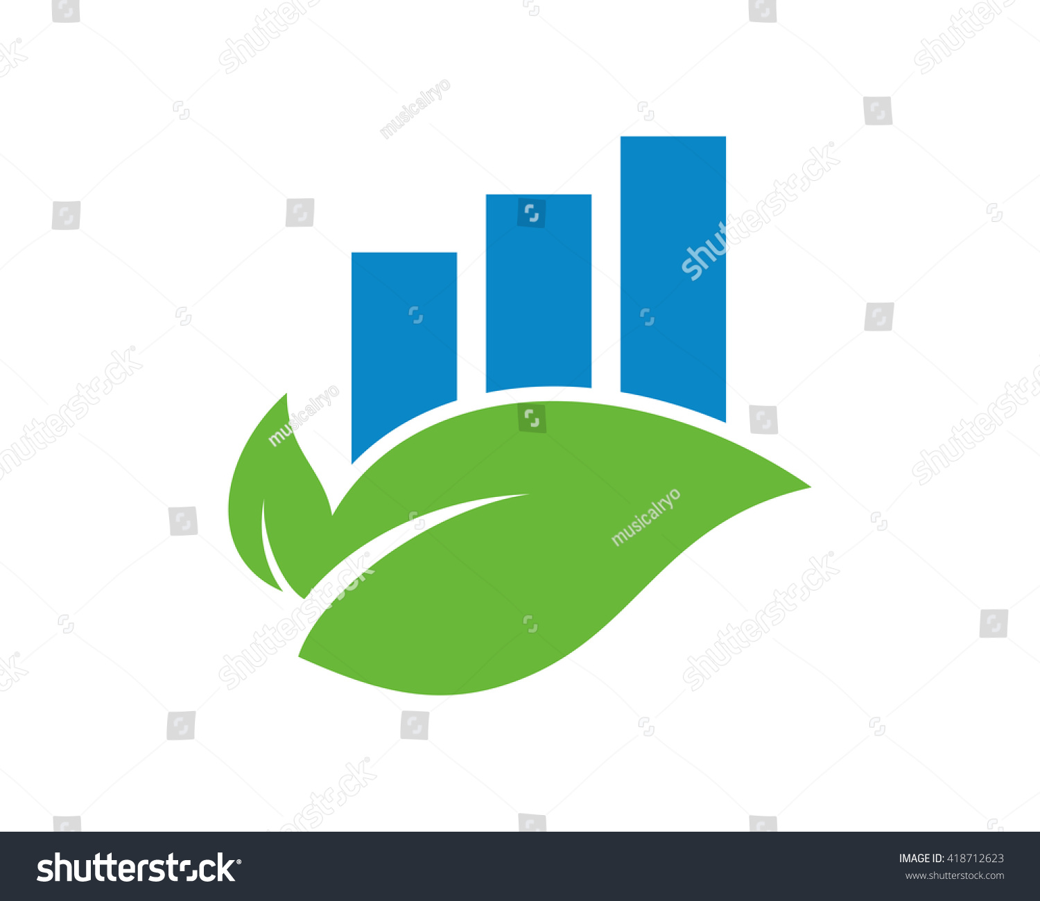 Leaf diagram graph image vector icon stock vector 418712623 leaf diagram graph image vector icon pooptronica Choice Image