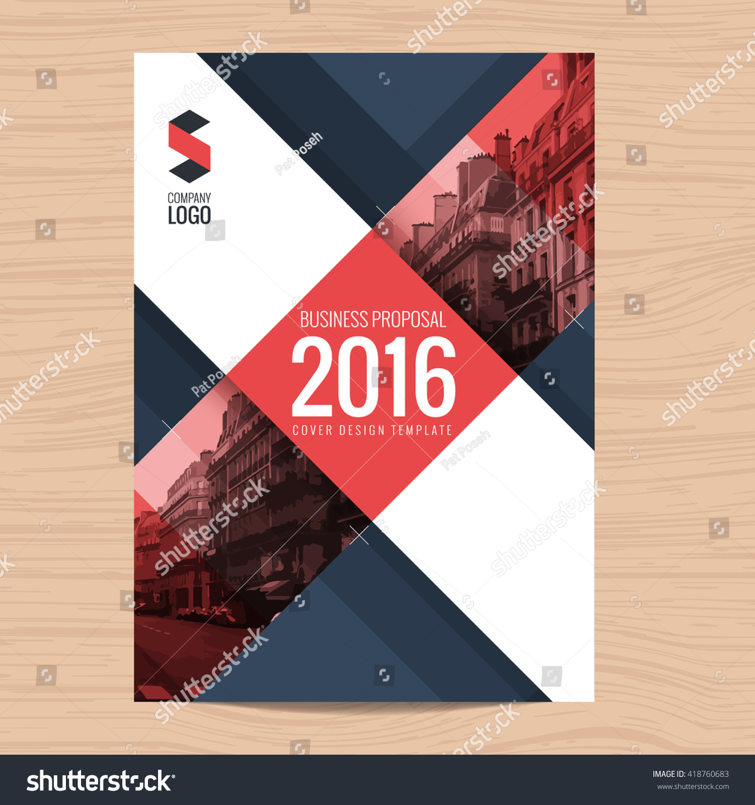 modern clean cover business proposal annual stock vector 418760683 modern clean cover for business proposal annual report brochure flyer leaflet