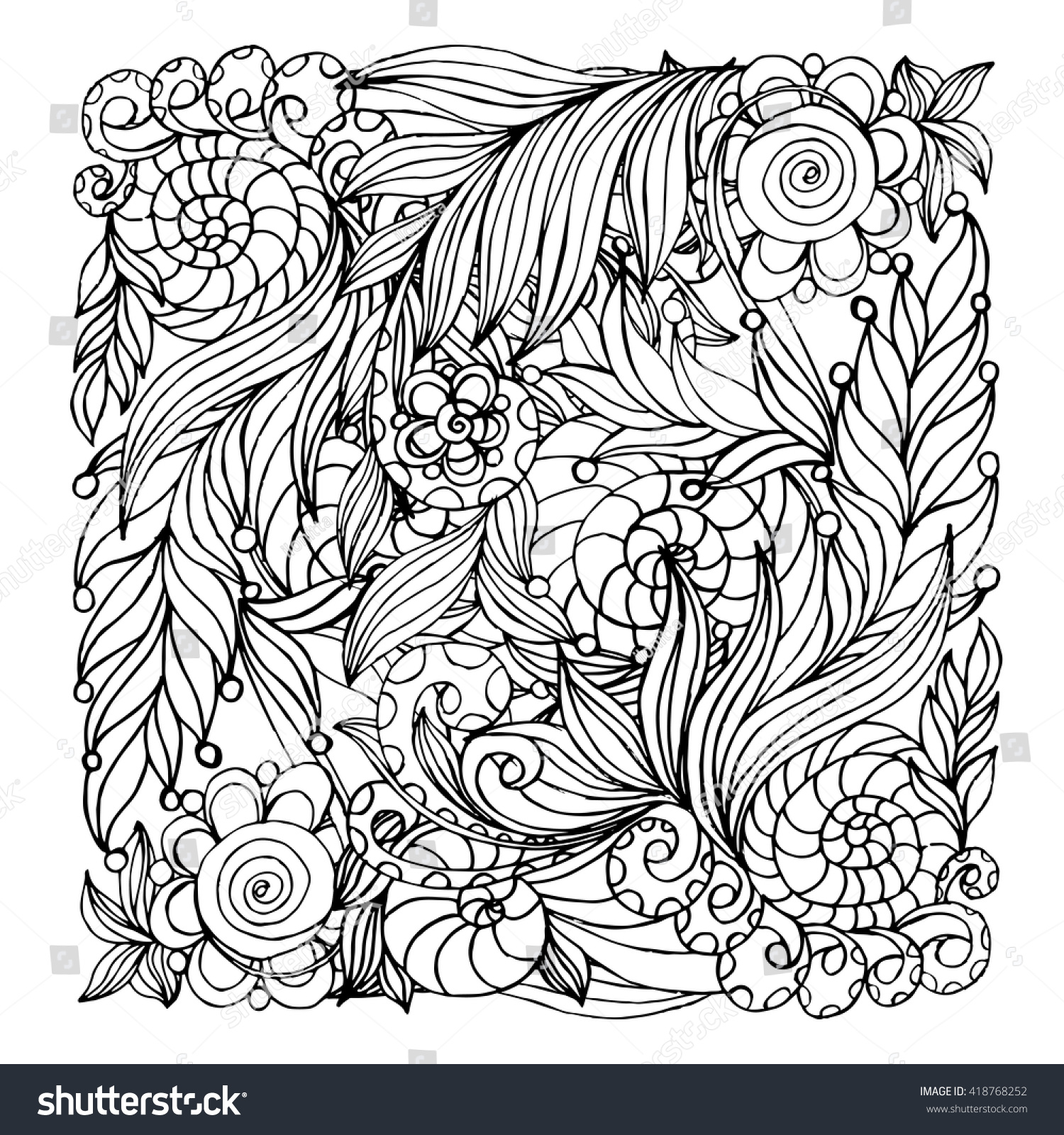 coloring book page design pattern mandala stock vector 418768252