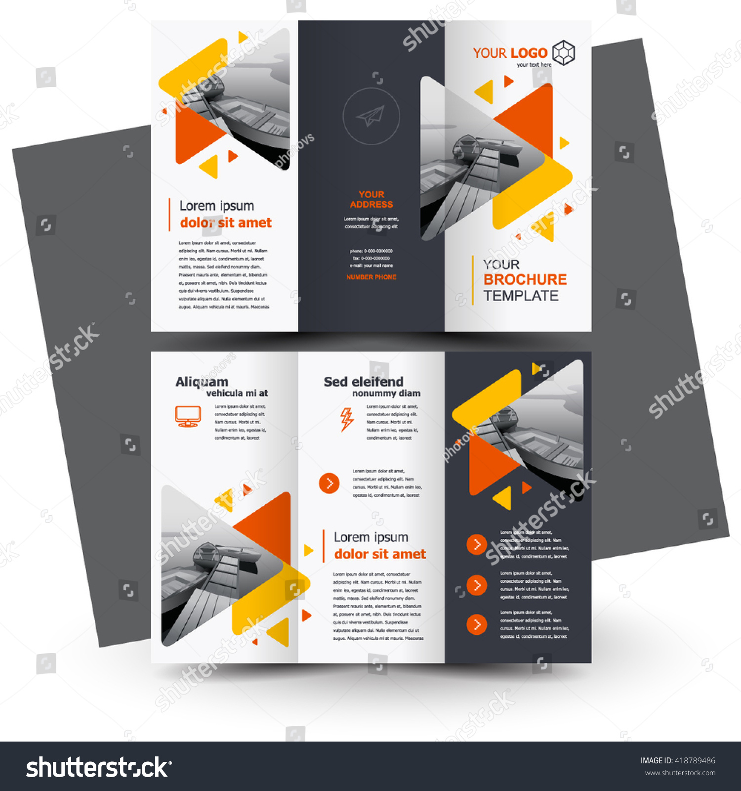 Brochure Design Geometric Abstract Business Brochure Vector – Business Brochure Design