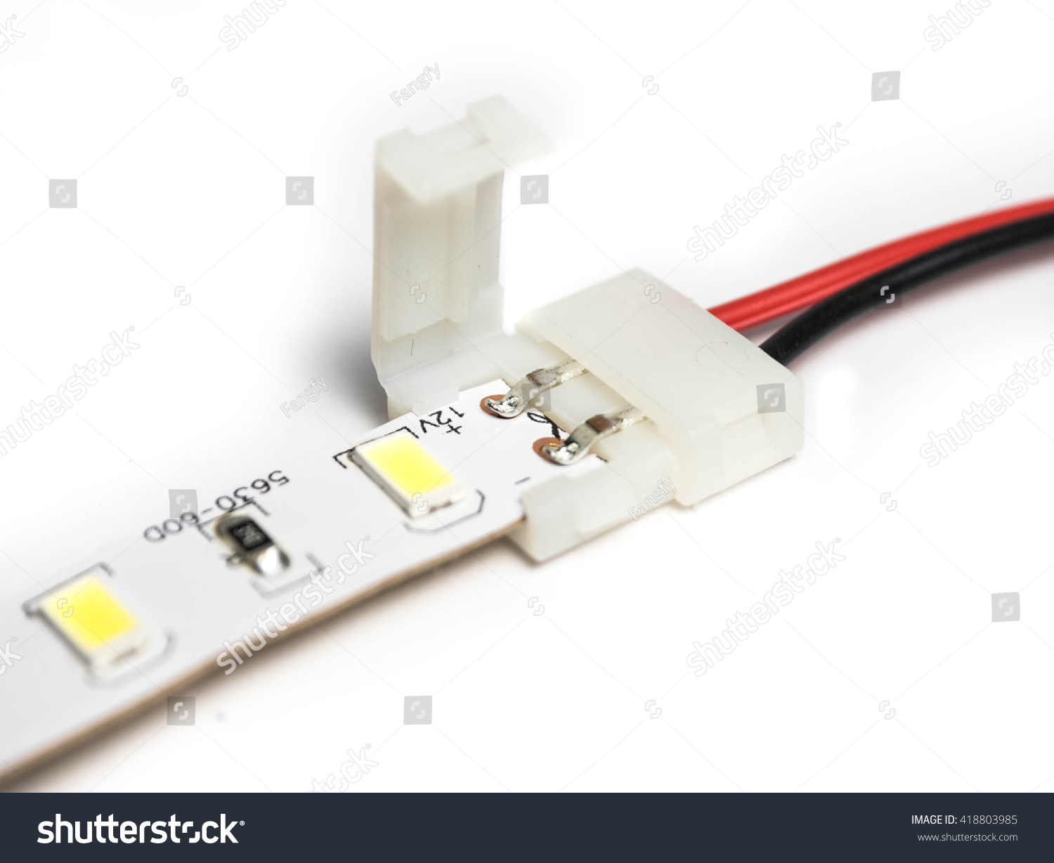 Led strip lights connectors on isolated stock photo 418803985 led strip lights connectors on isolated stock photo 418803985 shutterstock aloadofball Image collections