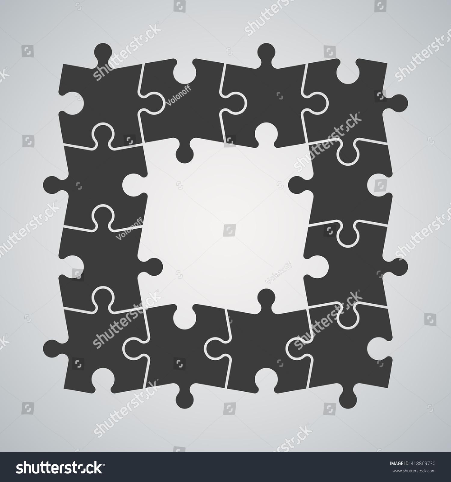 Ten Piece Flat Puzzle Round Infographic Stock Vector 418869730 ...