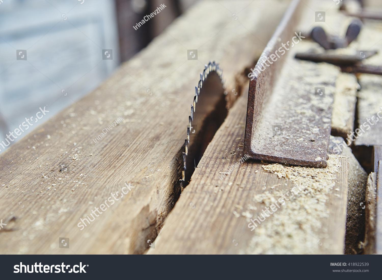 Working Circular Saw Blade Stock Photo (Edit Now) 418922539