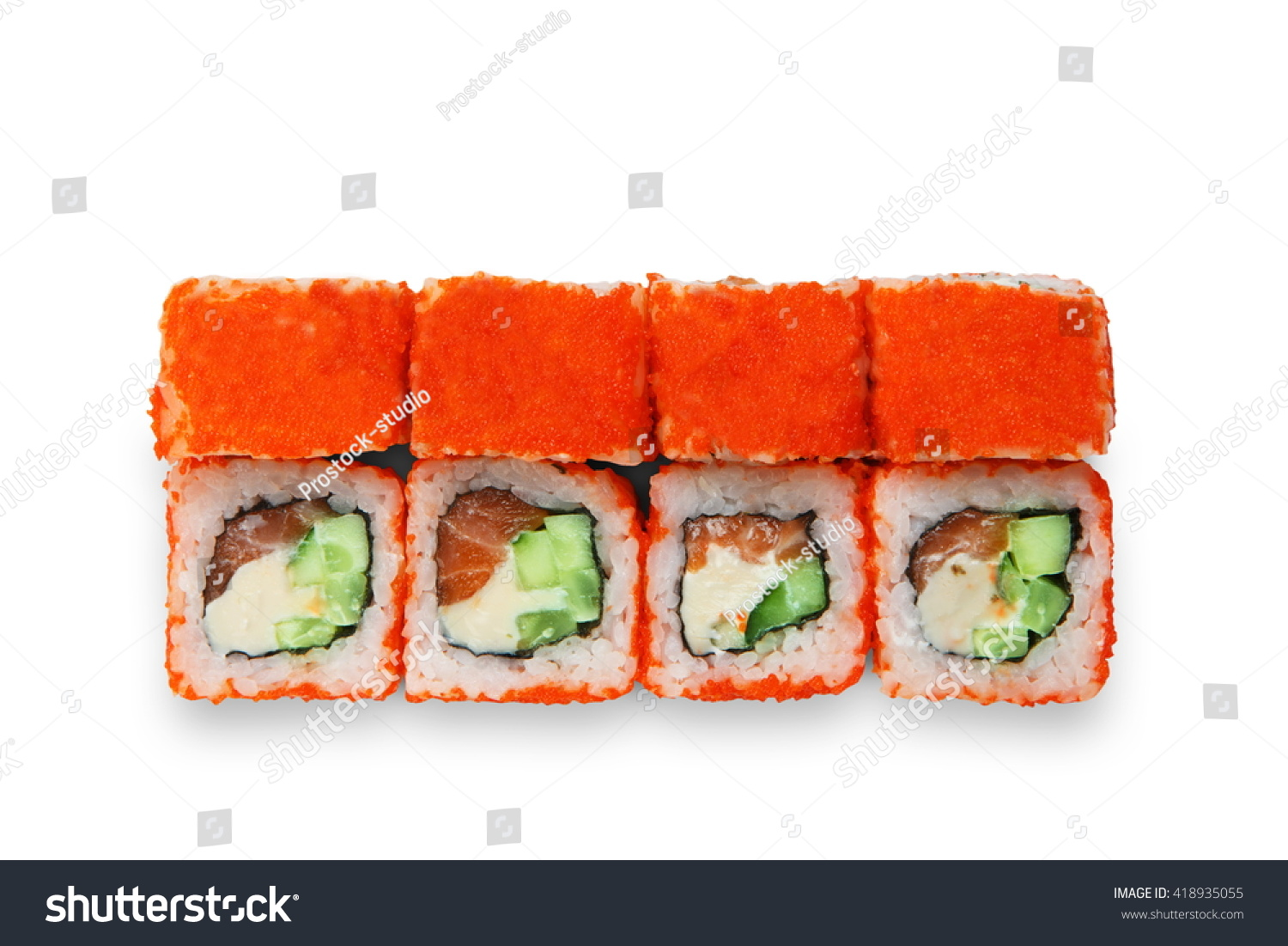 Japanese Food Restaurant Delivery Sushi Rolls Stock Photo
