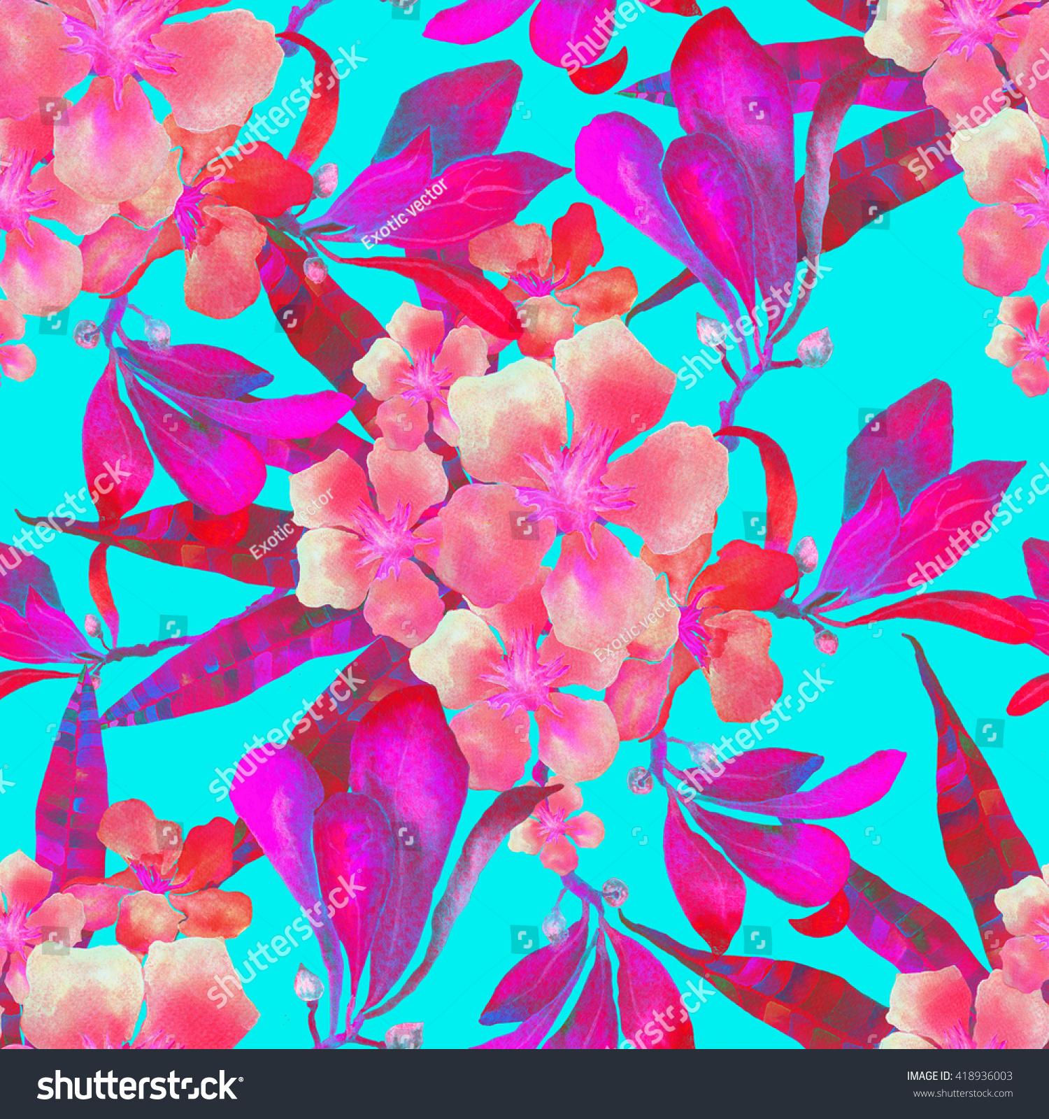Tropical flowers pattern hawaiian tropical flowers stock tropical flowers pattern hawaiian tropical flowers pattern exotic background seamless pattern with watercolor izmirmasajfo