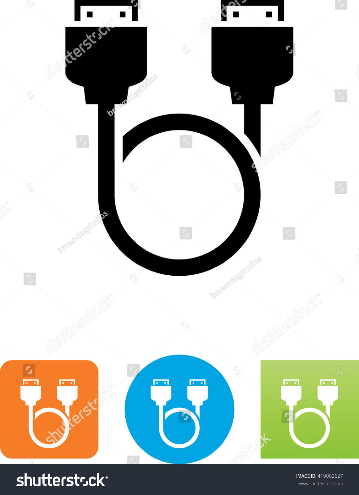 Looping Hdmi Cable Symbol Stock Vector Royalty Free 419002627