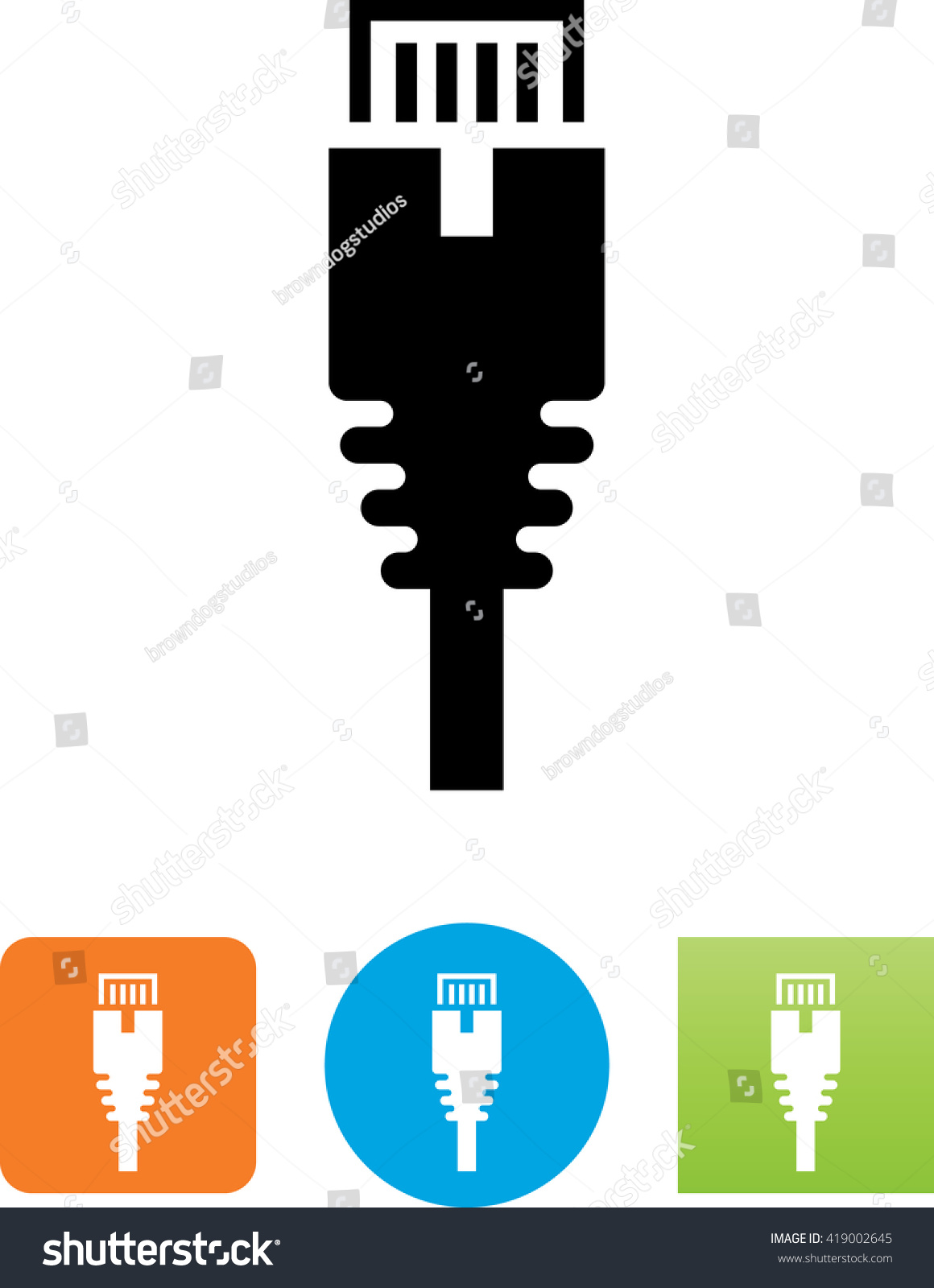 Cat 5 Ethernet Connector Icon Stock-vektorgrafik 419002645 ...