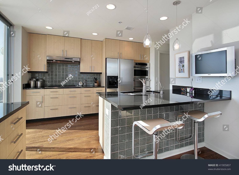 Upscale Kitchen Modern Condo Stock Photo Edit Now 41905807