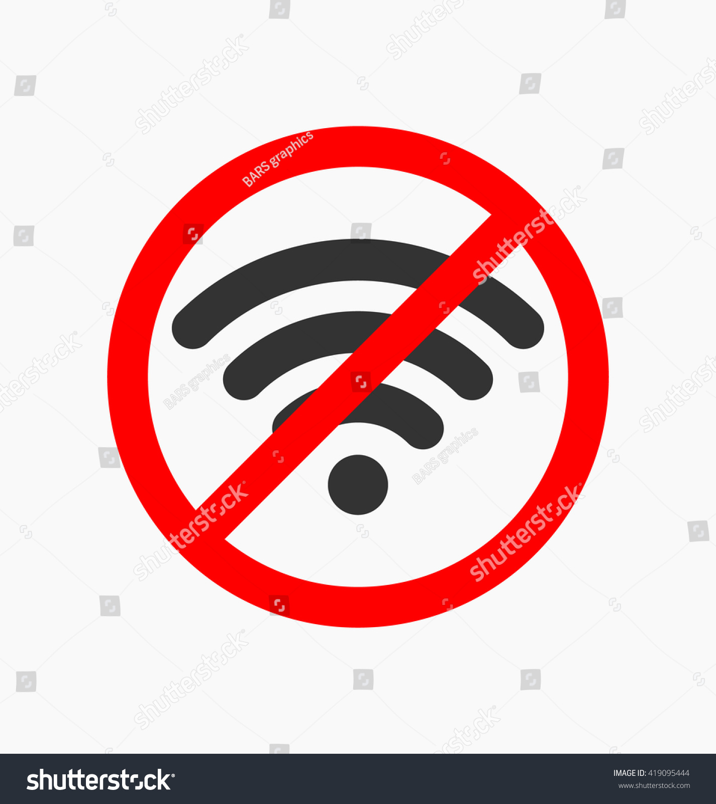 No Wifi Icon Vector Illustration Sign Stock Vector Royalty Free