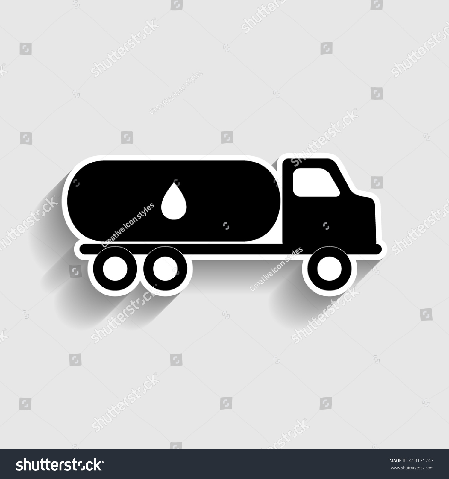 Royalty Free Stock Illustration Of Car Transports Oil Sign Stock
