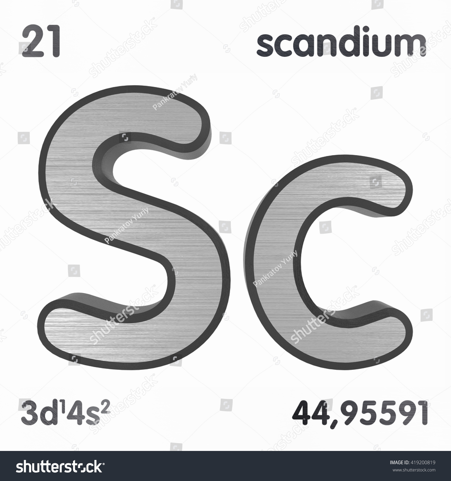 Periodic table elements scandium 3d title stock illustration periodic table of elements scandium 3d title isolated on white 3d rendering gamestrikefo Images
