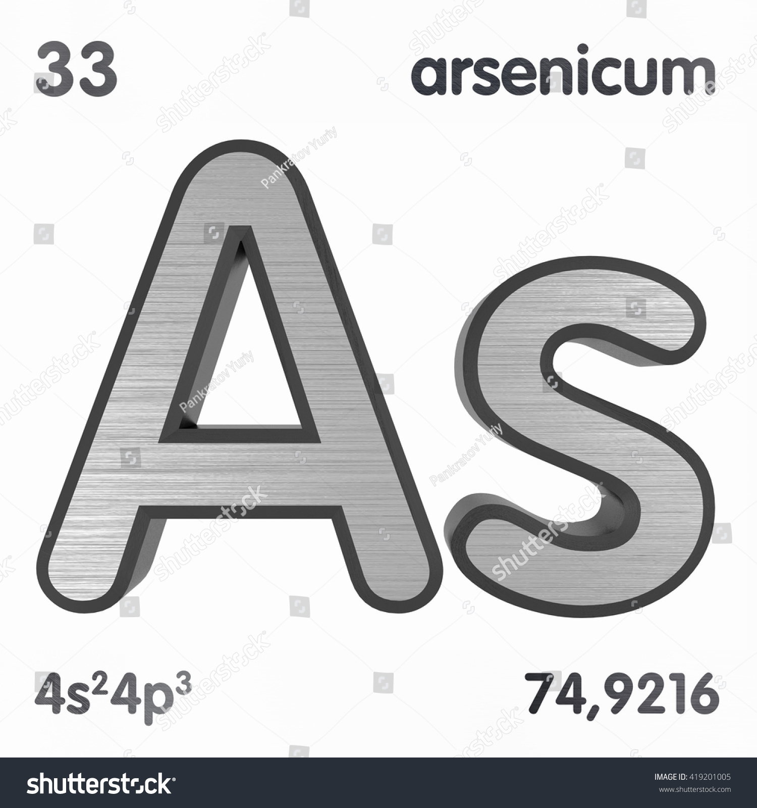 Periodic table elements arsenic 3d title stock illustration periodic table of elements arsenic 3d title isolated on white 3d rendering biocorpaavc Image collections