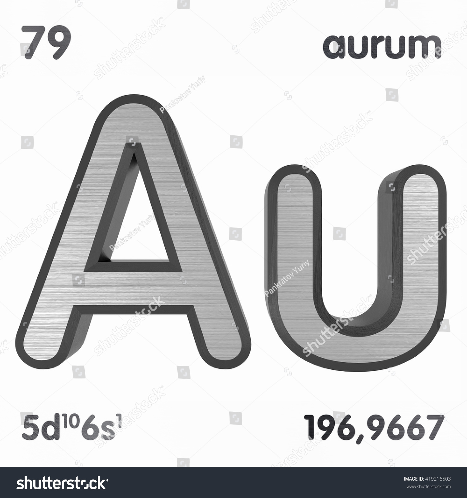 Periodic table elements gold 3d title stock illustration 419216503 periodic table of elements gold 3d title isolated on white 3d rendering gamestrikefo Images