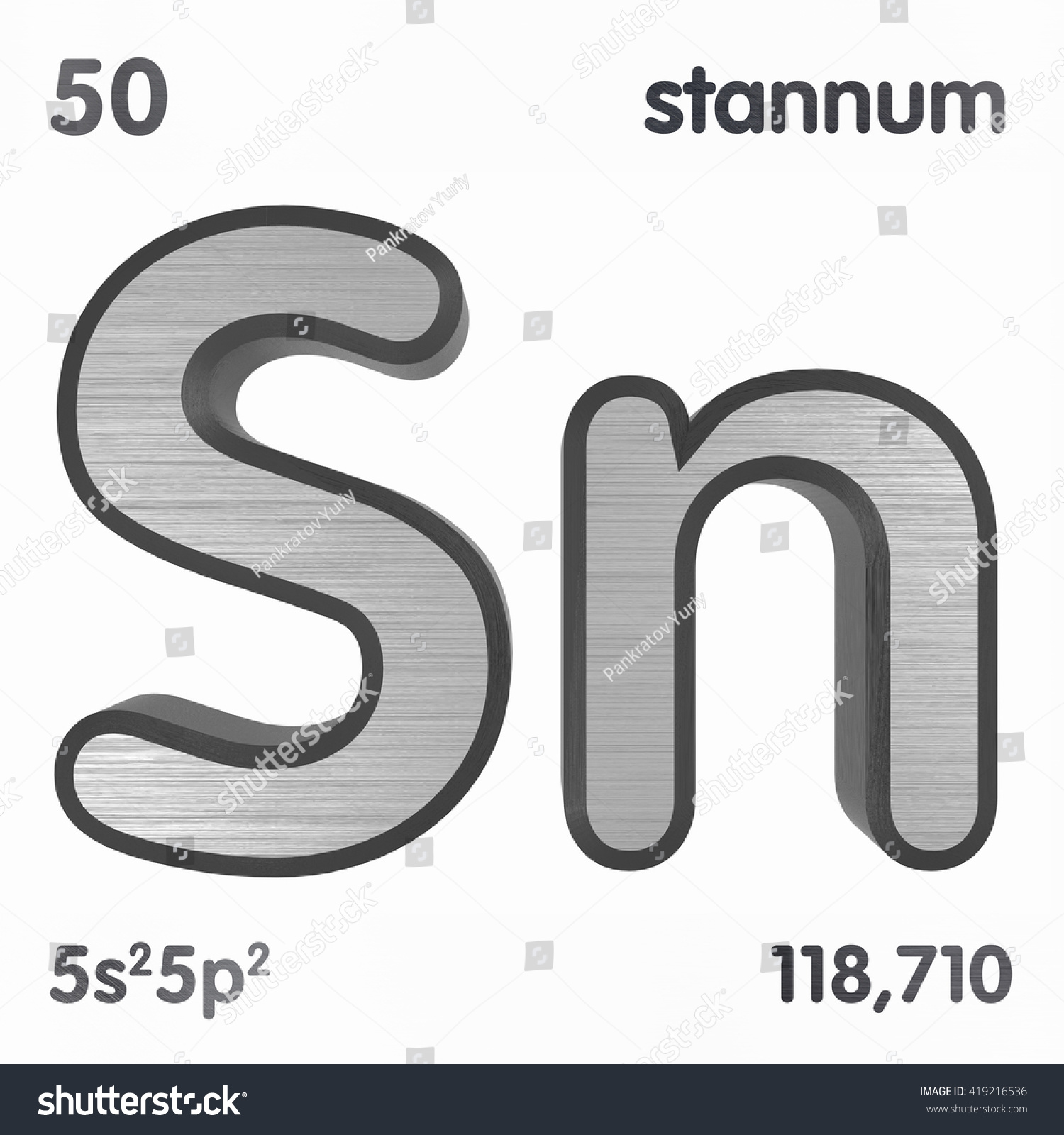 Periodic table elements tin 3d title stock illustration 419216536 periodic table of elements tin 3d title isolated on white 3d rendering gamestrikefo Gallery