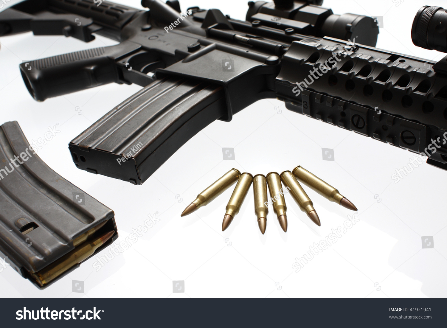Modern Assault Rifle Scope Used By Stock Photo (Edit Now) 41921941