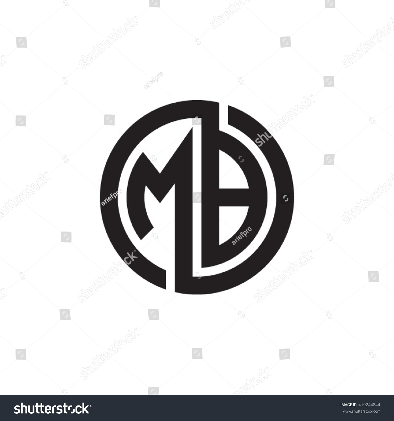 Mb Letters Red Abstract Black Background Stock Vector 411212668 ...