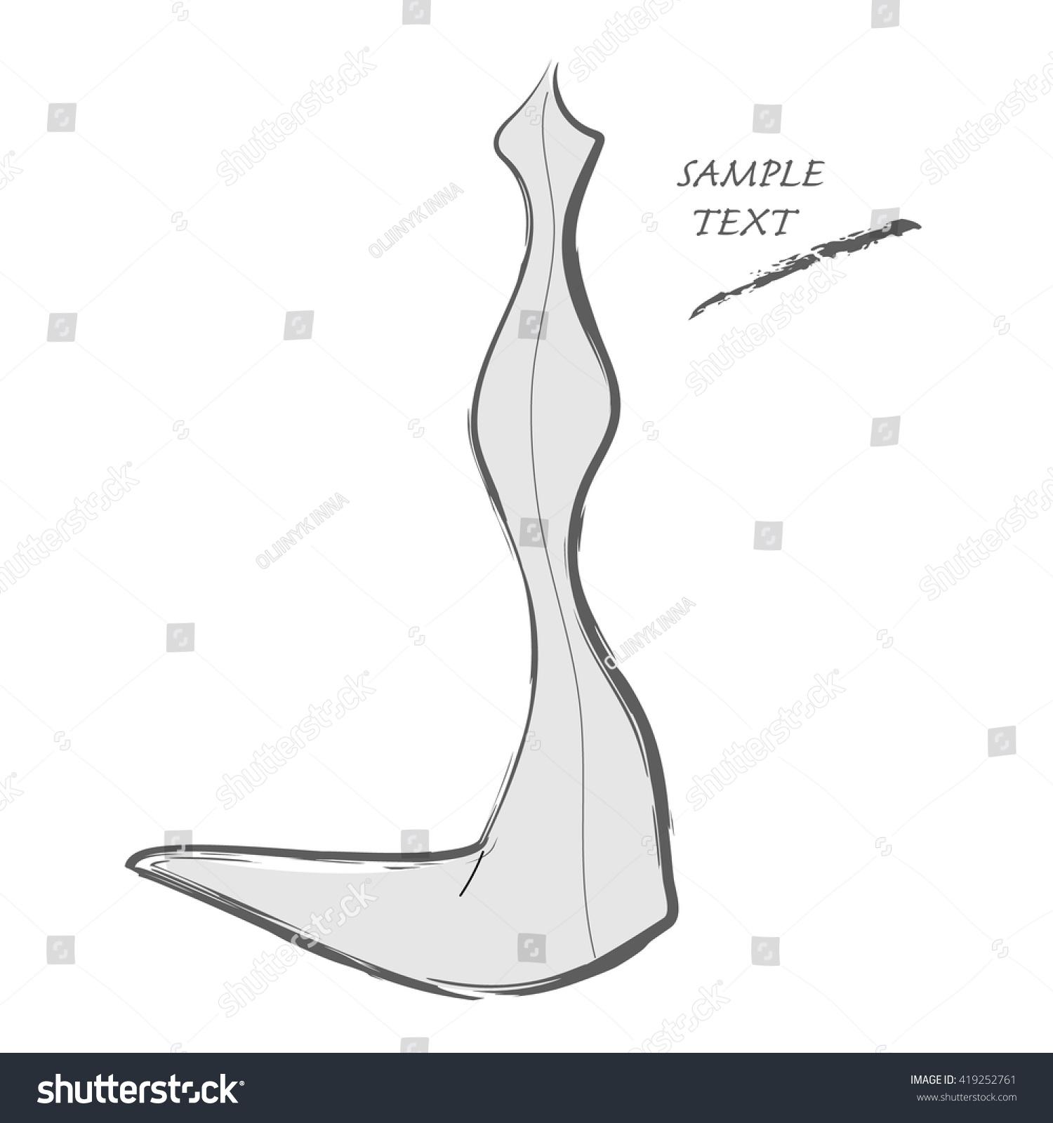 Dress outline sketch