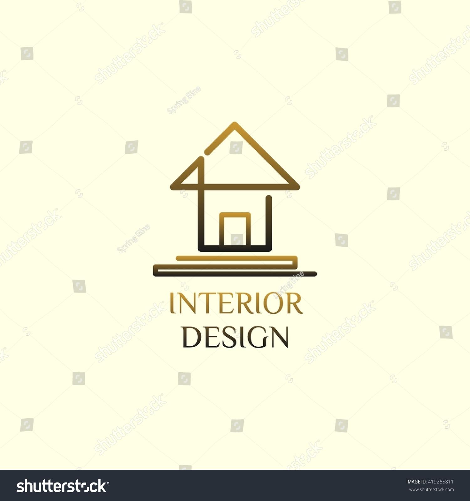 Logo Interior room stock vector. Illustration of jazzy ...