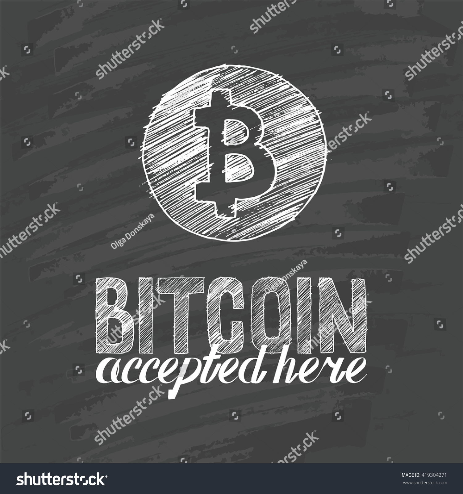 Hand drawn bitcoin symbol letters bitcoin stock vector 419304271 hand drawn bitcoin symbol and letters bitcoin accepted here biocorpaavc Choice Image