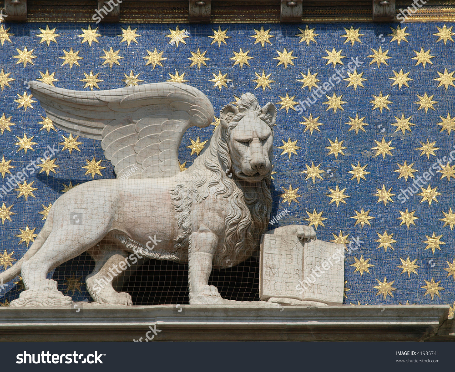Winged Lion St Mark On Clock Stock Photo Edit Now 41935741
