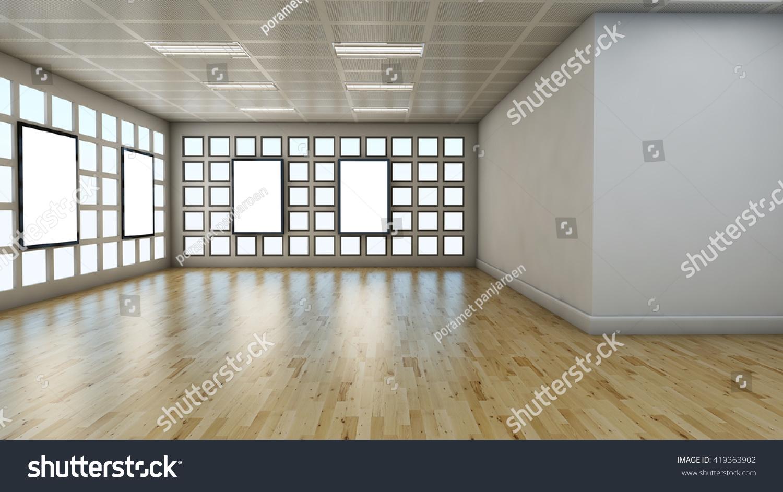 3d render empty room laminate flooring stock illustration for 3d laminate flooring