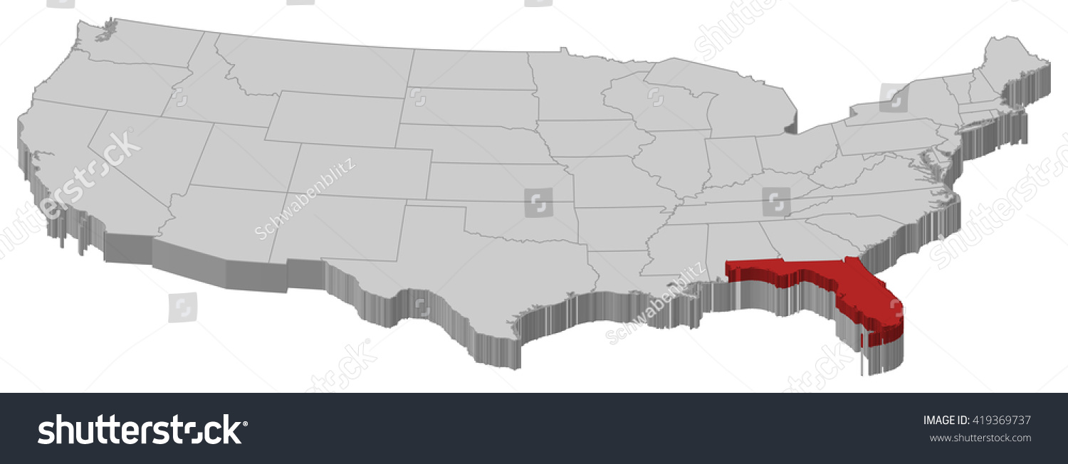Us Map Of States Florida Florida Colleges And Universities Large - Florida on us map